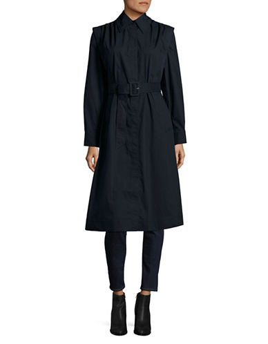 Mo&Co. Edition10 Twill Trench Coat-BLUE-X-Small
