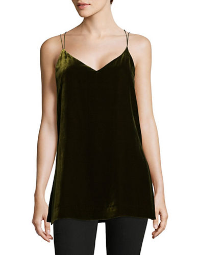 Mo&Co. Edition10 Velvet Camisole-LEAF-Medium