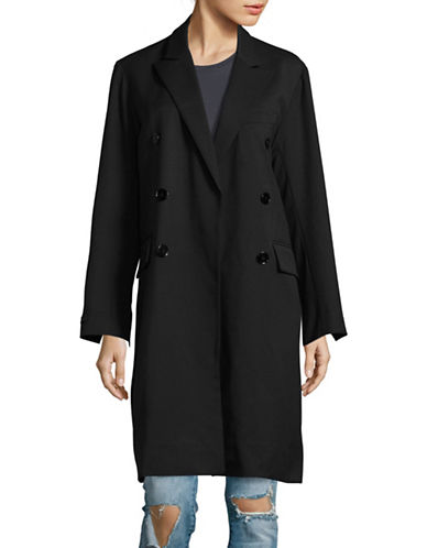 Mo & Co Long Oversized Coat-BLUE-X-Small