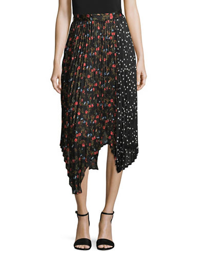 Mo & Co Floral and Star Skirt-BLACK MULTI-Medium
