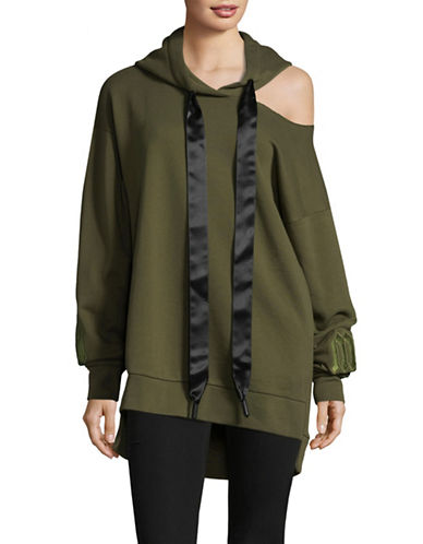 Mo & Co Oversized Hoodie-GREEN-X-Small