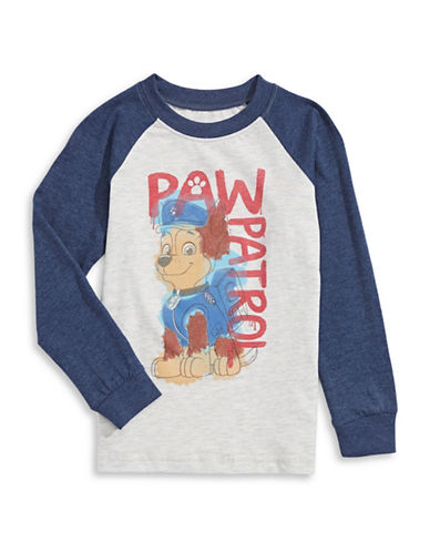 Licensed Tees Paw Patrol Baseball T-Shirt-WHITE-3 plus size,  plus size fashion plus size appare