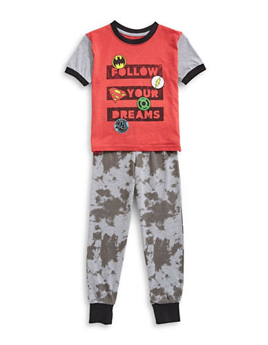 Ntd Justice League Two-Piece Pyjama Set-GREY-2 89099965_GREY_2