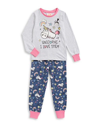 Ntd Two-Piece Unicorn Pyjama Set-BLUE-2
