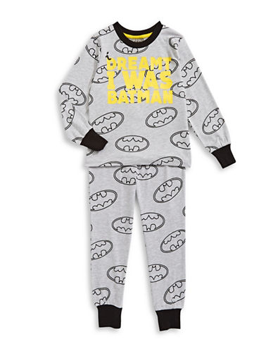 Ntd Two-Piece Batman Pyjama Set-GREY-2
