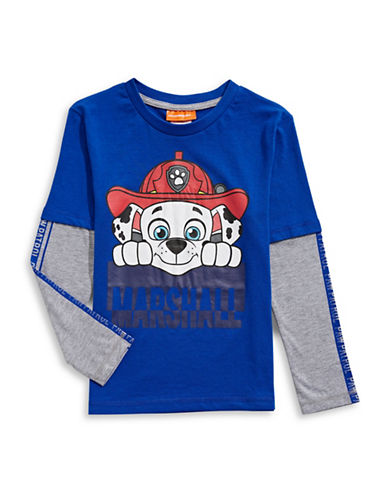 Licensed Tees Paw Patrol Fooler T-Shirt-BLUE-5