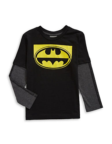 Licensed Tees Batman Fooler T-Shirt-BLACK-6