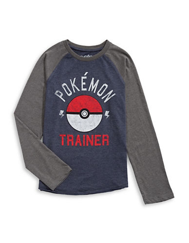 Licensed Tees Long Sleeve Pokemon T-Shirt-WHITE-14