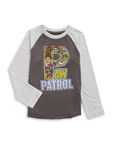 Licensed Tees Paw Patrol Long Sleeve Pyjama Top-GREY-6X