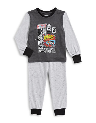 Ntd Two-Piece Justice League Comic Panel Pyjama Set-GREY-5