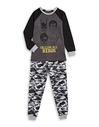 Ntd Justice League Two-Piece Pyjama Set-GREY-Medium