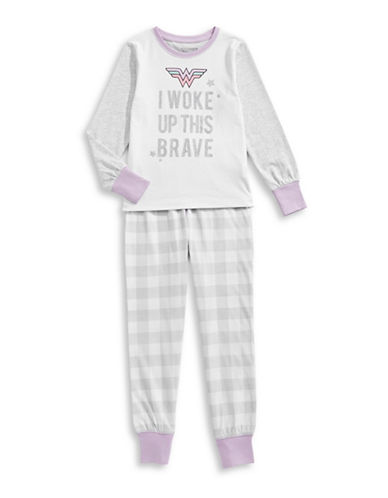 Ntd Two-Piece Wonder Woman Pyjama Set-GREY-3