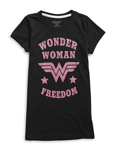 Licensed Tees Wonder Woman Freedom Tee-BLACK-Large 89550977_BLACK_Large