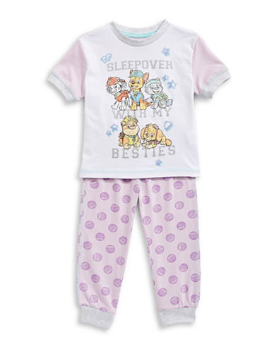 Ntd Two-Piece Paw Patrol Pajama Set-PINK-2