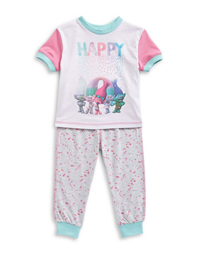 Ntd Two-Piece Trolls Pajama Set-GREY MIX-3