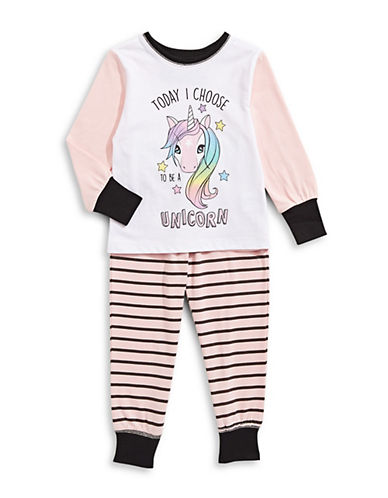 Novel Teez Two-Piece Choose Unicorn Pyjama Set-PINK-5