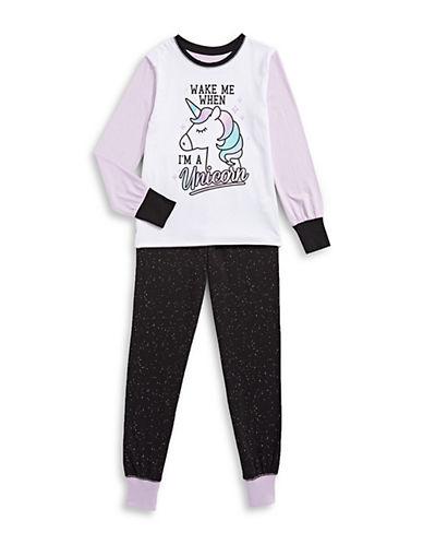 Novel Teez Two-Piece Unicorn Pyjama Set-PURPLE-14