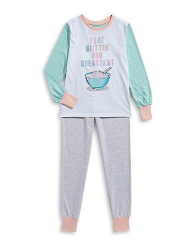 Novel Teez Two-Piece Breakfast Pyjama Set-PURPLE-7-8