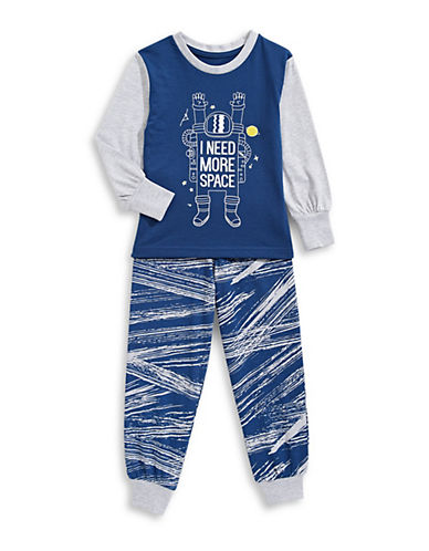 Novel Teez Two-Piece More Space Pyjama Set-BLUE-6X