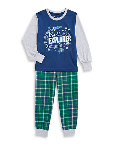 Novel Teez Two-Piece Bed Explorer Pyjama Set-GREEN-6X