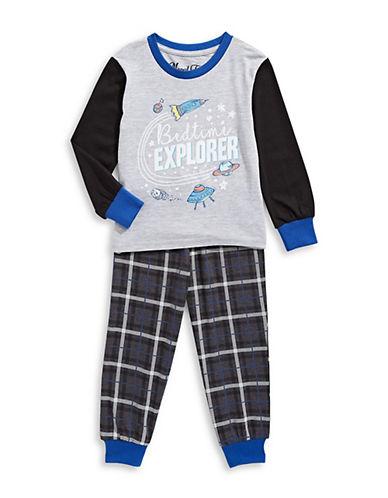 Novel Teez Two-Piece Bed Explorer Pyjama Set-BLUE-2