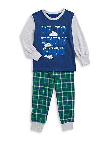 Novel Teez Two-Piece Snow Good Pyjama Set-GREEN-6
