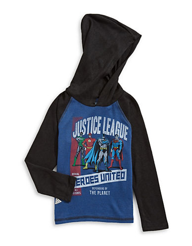 Licensed Tees Justice League Sweater-BLUE-2X