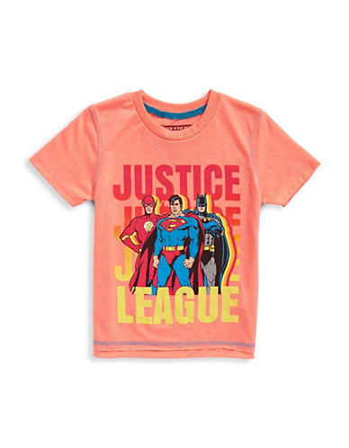 Licensed Tees Justice League Speckled Tee-ORANGE-2X