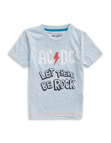 Licensed Tees ACDC Speckled T-Shirt-BLUE-6X
