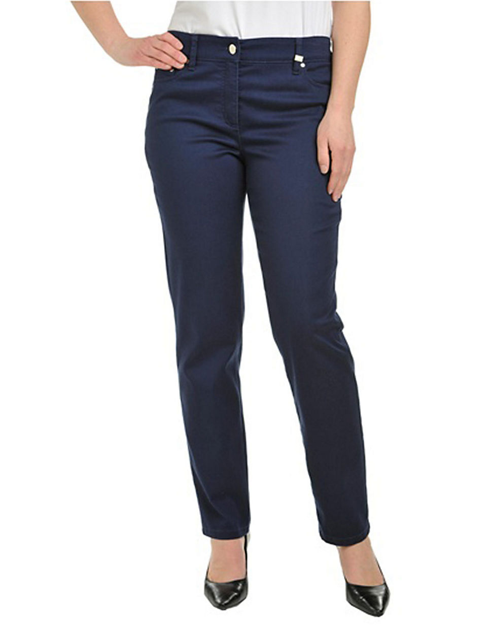 Plus Size Hug Jean 5 Pocket Pant blue 18 W