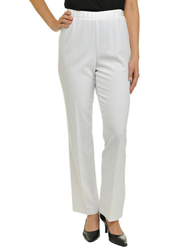 Allison Daley Plus Pull On Classic Fit Pant-WHITE-16W