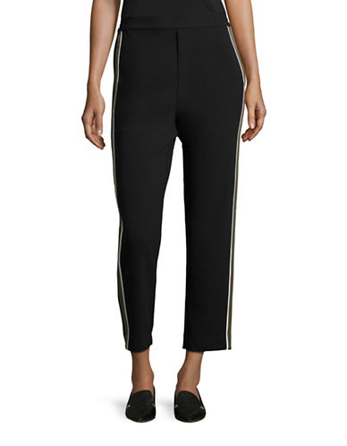 Mo & Co Side Stripe Pants-BLACK-Medium 88715158_BLACK_Medium