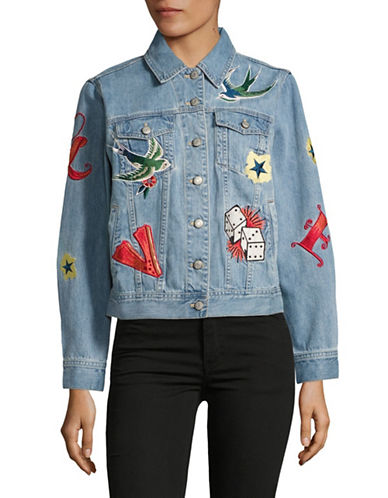 Mo & Co Embroidered Denim Jacket-BLUE-Medium 88973541_BLUE_Medium