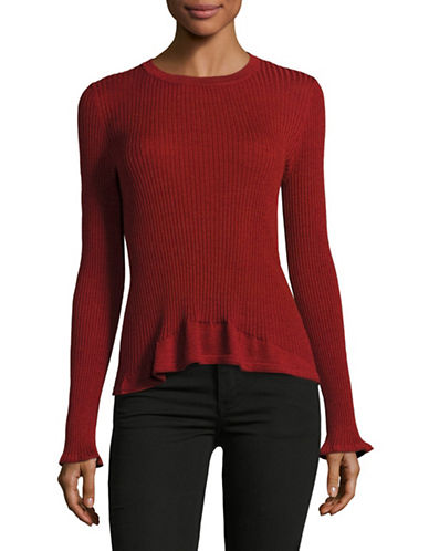 Mo & Co Ribbed Wool Sweater-NATURAL-Large