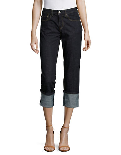 Mo&Co. Edition10 Turn Up Jeans-BLUE-29
