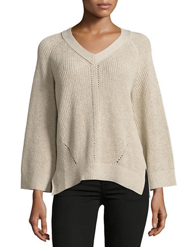Mo&Co. Edition10 Linen-Blend Sweater-NATURAL-Medium