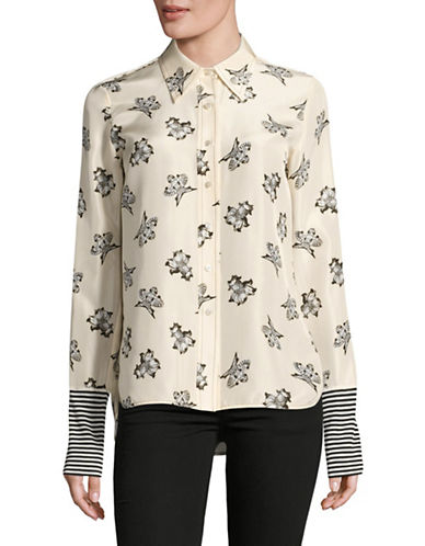 Mo&Co. Edition10 Printed Silk Sport Shirt-MULTI-X-Small