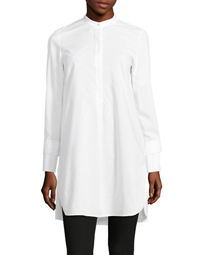 Mo&Co. Edition10 Tie Sleeve Tunic-WHITE-Medium