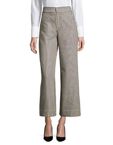 Mo&Co. Edition10 Wide Leg Striped Pants-BLACK-Small 89080574_BLACK_Small