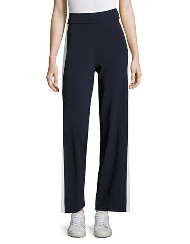 Mo & Co Side Stripe Knit Pants-BLUE-Large 88973578_BLUE_Large