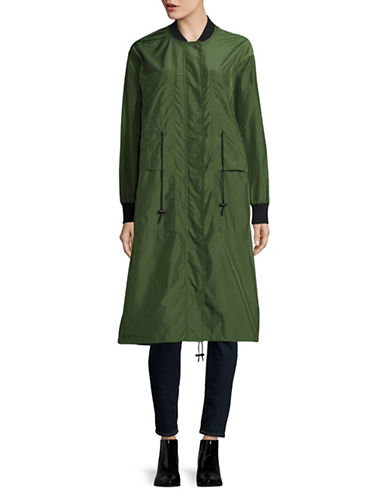 Mo & Co Long Bomber Jacket-GREEN-Small 88990258_GREEN_Small