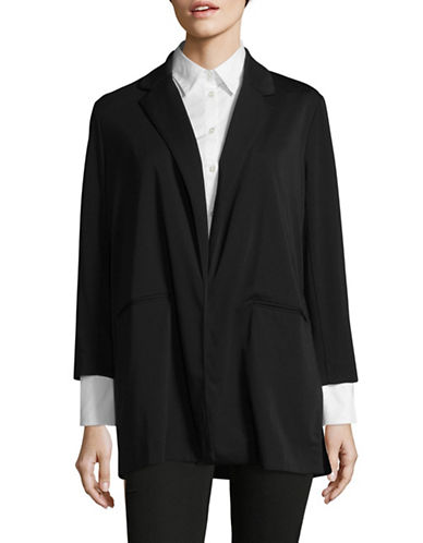 Mo&Co. Edition10 Deconstructed Blazer-BLACK-X-Small