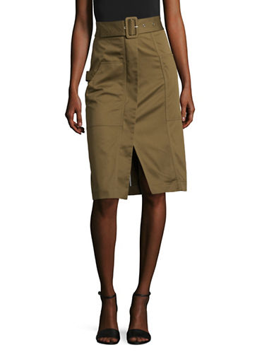 Mo&Co. Edition10 Cargo Skirt-OLIVE DRAB-X-Large