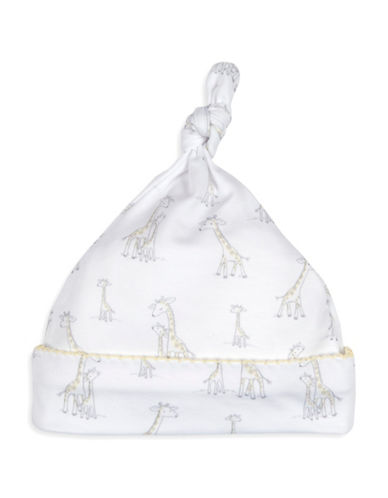 Kissy Kissy Giraffe Generations Cotton Hat-WHITE-0-6 Months