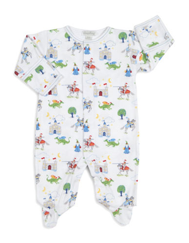 Kissy Kissy Prince Charming Cotton Footies-WHITE-3-6 Months