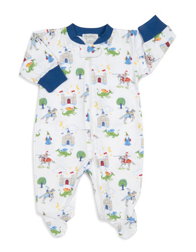 Kissy Kissy Prince Charming Cotton Footies-WHITE-0-3 Months