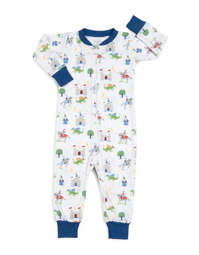 Kissy Kissy Prince Charming Cotton Coverall-WHITE-12-18 Months