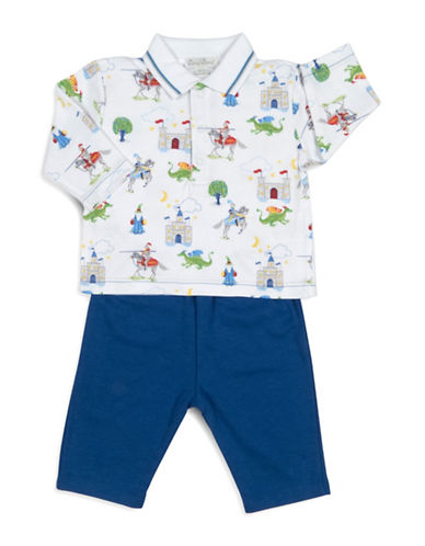 Kissy Kissy Two-Piece Prince Charming Top and Pants Set-BLUE-3-6 Months