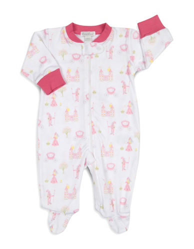 Kissy Kissy Enchanted Princess Cotton Footies-WHITE-3-6 Months