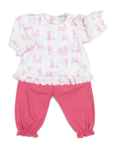 Kissy Kissy Two-Piece Enchanted Princess Top and Pants Set-PINK-6-9 Months